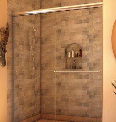 A-Series Euro Slider Shower - Semi-Frameless