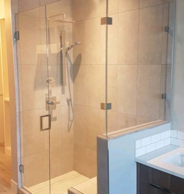 Corner Bench Shower