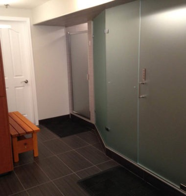 Ladies Changeroom with Satin Glass