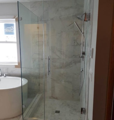 Shower After Photo with Ladder Pull