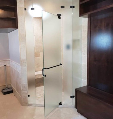 Corner Steam Shower Open Door