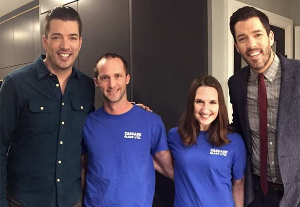 Cascade Glass Team with Property Brothers