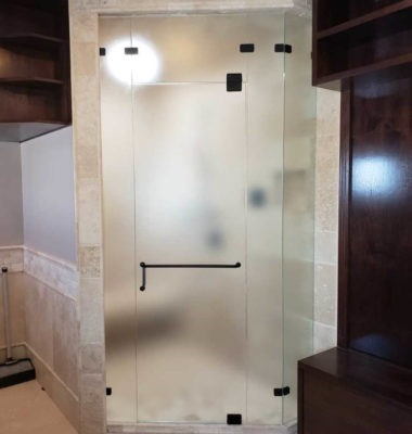 Corner Steam Shower